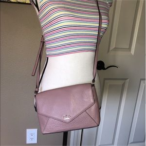 Pink leather crossbody bag from Kate Spade